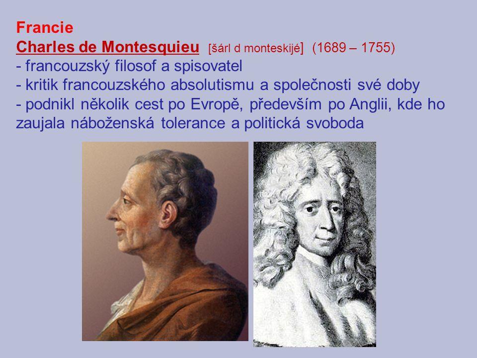 Charles de Montesquieu [šárl d monteskijé] (1689 – 1755)